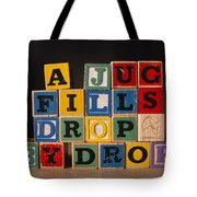 A Jug Fills Drop By Drop Tote Bag