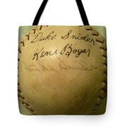 A Ken Boyer And Duke Snider Autograph Baseball Tote Bag