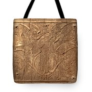 A King Carved In Wood Tote Bag