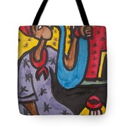 A King Messenger Blowing Flute Tote Bag