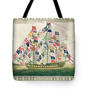 A King S Ship Dressed With The Colours Of Different Nations 6th October 1794 Tote Bag