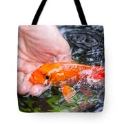 A Koi In The Hand Tote Bag