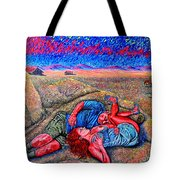 A La Campagne/at The Country/ Tote Bag
