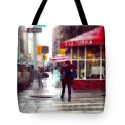 A La Turka In The Rain - Restaurants Of New York Tote Bag