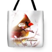 A Lady For Christmas - Cardinal Card Tote Bag