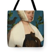 A Lady With A Squirrel And A Starling Tote Bag