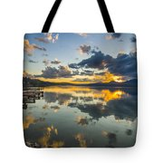 A Lake Pend Oreille Sunset  -  120601a-040 Tote Bag