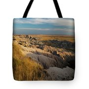 A Landscape Image Of Badlands National Tote Bag