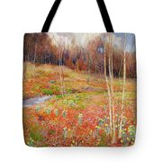 A Landscape In Spring With A Nun Tote Bag