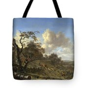 A Landscape With A Dead Tree Tote Bag