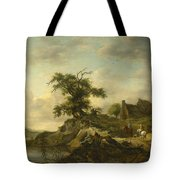 A Landscape With A Farm On The Bank Of A River Tote Bag