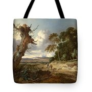 A Landscape With Two Dead Trees Tote Bag