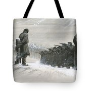 A Last Minute Reprieve Saved Fyodor Dostoievski From The Firing Squad Tote Bag