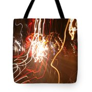 A Light Dance In Old Town Tote Bag