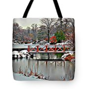A Light Dusting Of Snow Tote Bag