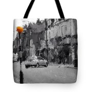 A Light On A Grey Day Tote Bag