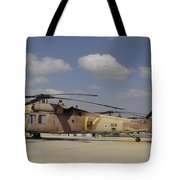 A Line Of Uh-60l Yanshuf Helicopters Tote Bag
