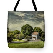 A Little Blue House Tote Bag