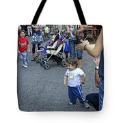 A Little Boy Dancing At The 200th Anniversary Of St. Patrick Old Cathedral Tote Bag