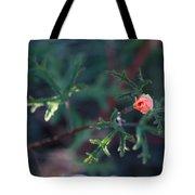 A Little Peach Flower Bud Tote Bag