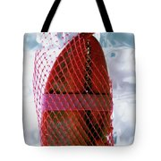 A Lobster Claw In Red Packaging Tote Bag