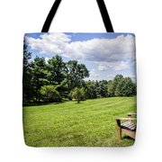A Lone Chair In August Tote Bag