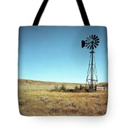 A Lone Windmill Stands On The Canadian Tote Bag