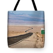 A Long Road Through Death Valley Tote Bag
