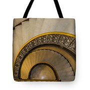 A Look Down The Stairs Tote Bag
