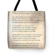 A Love Poem Tote Bag