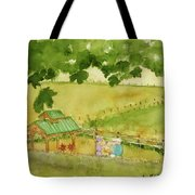 A Lovely Day At Lavender Hills Tote Bag