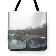 A Lovely Reflective Travel Scene Tote Bag