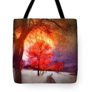 A Magic Winter Tote Bag