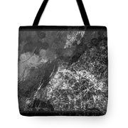 A Magical Face In The Water Abstract Black And White Painting Tote Bag