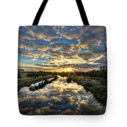 A Magical Marshmallow Sunrise  Tote Bag by Ron Shoshani