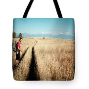 A Male Hiker In Montana Tote Bag