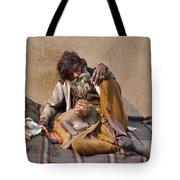 A Man And His Monkey - Varanasi India Tote Bag