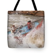 A Man And Woman Get Pushed Tote Bag