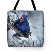 A Man Ascends A Dramatic, Challenging Tote Bag