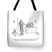 A Man Gives A Toast To The Bride And Groom Tote Bag