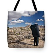 A Man Looks Into The Distance Tote Bag