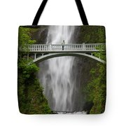A Man Stands On The Benson Bridge Tote Bag
