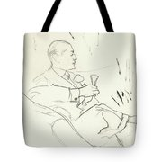 A Man With A Glass Of Wine Tote Bag