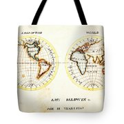 A Map Of The World  Amy Baldwin Sc Tote Bag
