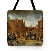 A Marketplace In Winter, 1653 Tote Bag