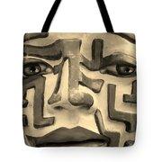 A Maze Ing Face 1 Sepia Tote Bag
