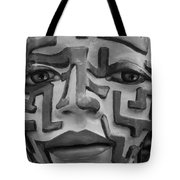 A Maze Ing Face Black And White Tote Bag