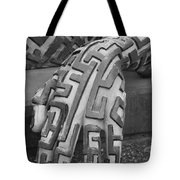 A Maze Ing Hand Black And White Tote Bag