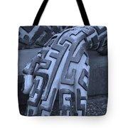 A Maze Ing Hand Cyan Tote Bag
