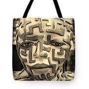 A Maze Ing Man 3 Sepia Tote Bag